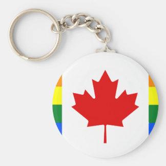 Regenbogen-Flagge von Kanada Schlüsselanhänger