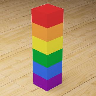 Regenbogen-Flagge Wein-Geschenkverpackung