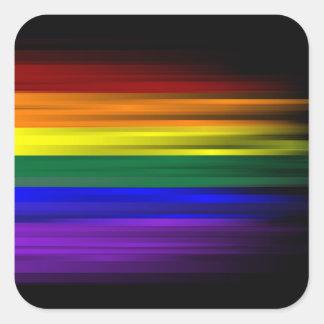 Regenbogen-Flaggen-Aufkleber-Blatt (Quadrat) Quadratischer Aufkleber