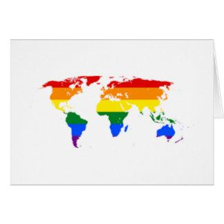 Regenbogen-Flaggen-Karten-Gruß-Karten Karte
