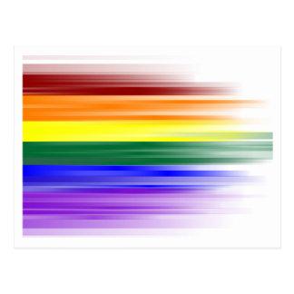 Regenbogen-Flaggen-Postkarte Postkarten