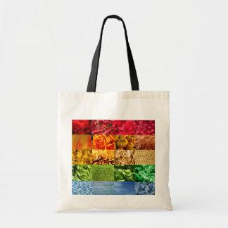 Regenbogen-Foto-Collage Tragetaschen