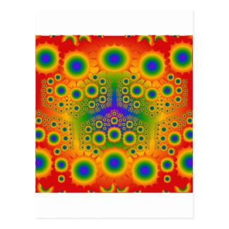 Regenbogen-Fraktal-Explosionen: Postkarten