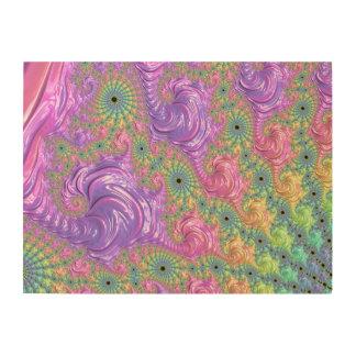 Regenbogen-Fraktal Holzwanddeko