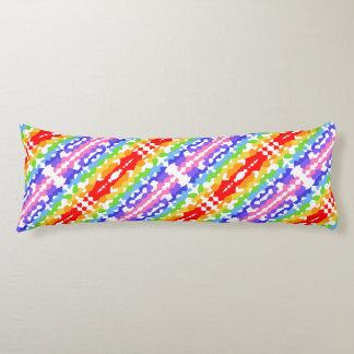 Regenbogen-Fraktal-Mosaik-Muster Seitenschläferkissen