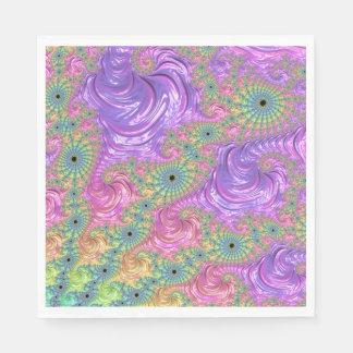 Regenbogen-Fraktal Papierserviette
