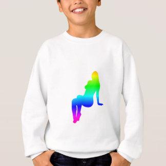 Regenbogen-Frau-Silhouette Sweatshirt