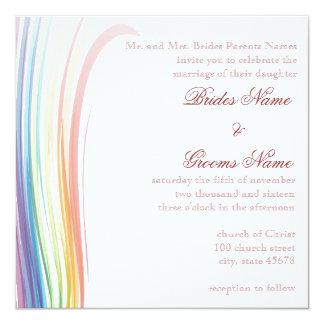 Regenbogen-Freude-Hochzeits-Einladung