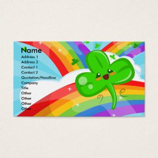 Regenbogen-Freuden-Visitenkarte Visitenkarten