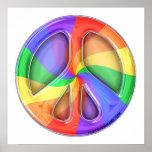 Regenbogen-Frieden Plakatdrucke