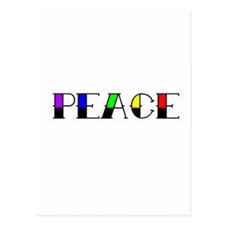 Regenbogen-Frieden Postkarte