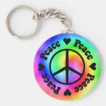 Regenbogen-Frieden u. Liebe Keychain Schlüsselband