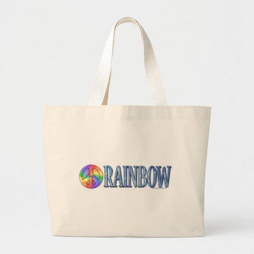 Regenbogen-FriedensTaschen-Tasche Jumbo Stoffbeutel