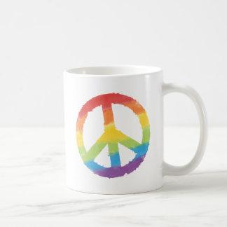 Regenbogen-Friedenszeichen Kaffeetasse