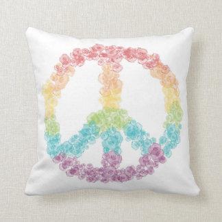 Regenbogen-Friedenszeichen-Kissen Kissen
