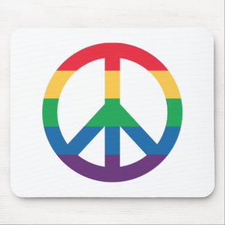 Regenbogen-Friedenszeichen Mousepad