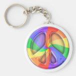 Regenbogen-Friedenszeichen Schlüsselband