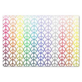 Regenbogen-Friedenszeichen-Seidenpapier Seidenpapier