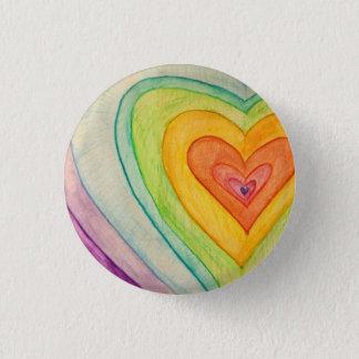 Regenbogen Frienship Herz-Kunst-Knöpfe oder Runder Button 3,2 Cm