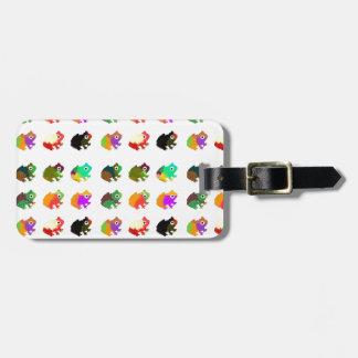 Regenbogen-Frösche Kofferanhänger