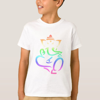 Regenbogen Ganesha T-Shirt