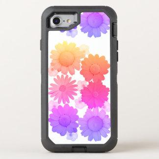 Regenbogen-Gänseblümchen-Blumen-künstlerische OtterBox Defender iPhone 8/7 Hülle