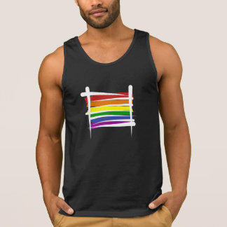 Regenbogen-Gay Pride-Bürsten-Flagge Tank Top