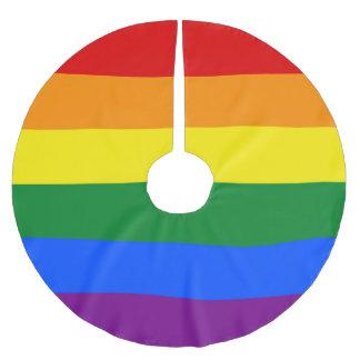 Regenbogen-Gay Pride-Flagge Polyester Weihnachtsbaumdecke