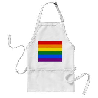 Regenbogen-Gay Pride-Flagge Schürze