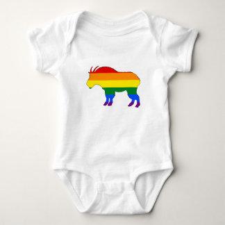 Regenbogen-Gebirgsziege Baby Strampler