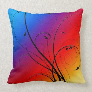Regenbogen geblühtes Entwurfthrow-Kissen Kissen