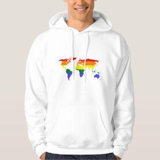 Regenbogen-Gleichheit mit Liebe ist Liebe Hoodie