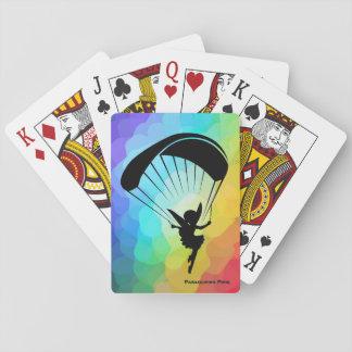 Regenbogen-Gleitschirmfliegen-Elf-Karten Spielkarten