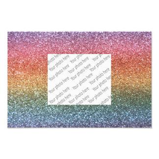 Regenbogen-Glitter Kunstphoto