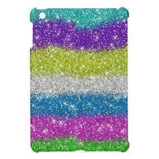 Regenbogen-Glitter-Streifen Hüllen Für iPad Mini