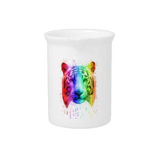 Regenbogen-Graffiti-Farben-Spritzen-sibirischer Getränke Pitcher