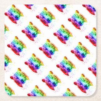 Regenbogen-Graffiti-Farben-Spritzen-sibirischer Rechteckiger Pappuntersetzer