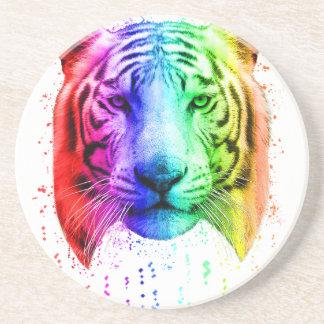 Regenbogen-Graffiti-Farben-Spritzen-sibirischer Untersetzer