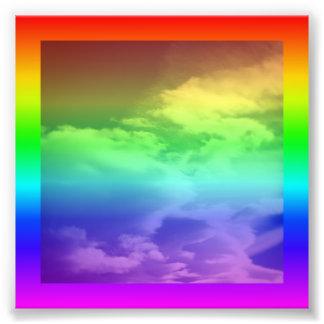 Regenbogen-Grenze und Überlagerung Photo Drucke