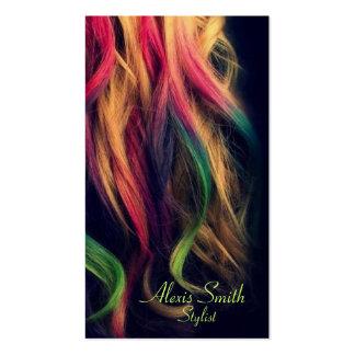 Regenbogen-Haar-Stylist-Visitenkarten Visitenkarten