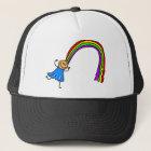 Regenbogen-Haar Truckerkappe