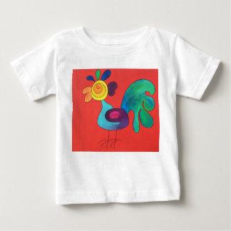 Regenbogen-Hahn Baby T-shirt