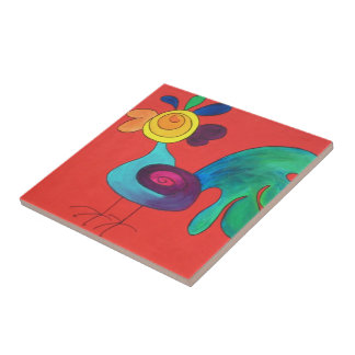 Regenbogen-Hahn Keramikkacheln