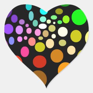 Regenbogen-Hälfte-Spirale Herz-Aufkleber