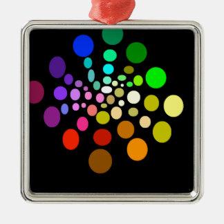 Regenbogen-Hälfte-Spirale Silbernes Ornament