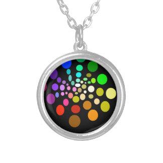 Regenbogen-Hälfte-Spirale Versilberte Kette