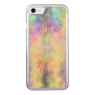 Regenbogen-Halo-Stern-Explosion Carved iPhone 8/7 Hülle