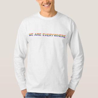 Regenbogen - Hanes lange Nano-Hülse T-Shirt