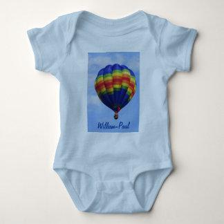 Regenbogen-Heißluft-Im Ballon aufsteigen Babybody