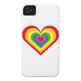 Regenbogen-Herz iPhone 4 Cover